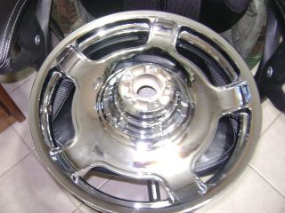 GLIDE ROAD FLHX CRUISER TOURING CHROME WHEEL RIM WHEELS RIMS front