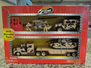 New Hot Zone Military Vehicles Set Toy Trucks Tanks Helicopter