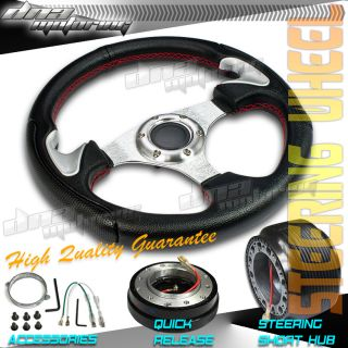 3pc Combo Quick Release Hub 320mm T310 Racing JDM Steering Wheel