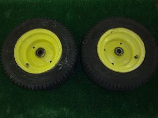 John Deere 318 Front Rims and Tires
