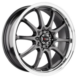 DR9 15 Rims Gun Metal 4 Lugs Drag Wheels Universal