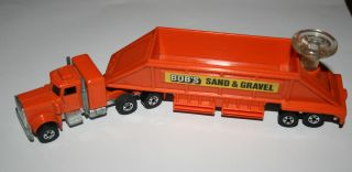 Hot Wheels Peterbilt Truck 1980 Bobs Sand Gravel Semi Truck
