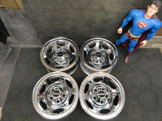Chrome CHEVY GMC 454 SS Truck Rally Wheels Rims 5 LUG Sierra 5on5