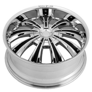 24 inch Rims and Tires Wheels Rockstarr 411 Chrome RAM Dakota Durango