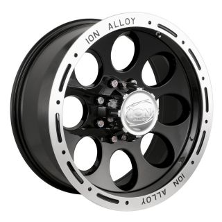 x8 ion Alloy Style 174 Black 5x4 5 w 5 Et 174 6865B Wheels Rims