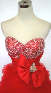 Mac DUGGAL Couture 4759H Red 2012 Prom Ball Gown 10
