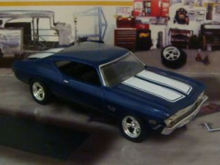 Hot Wheels 69 Chevelle SS 396 Blue One 1 64 Scale Edit 6 Detailed