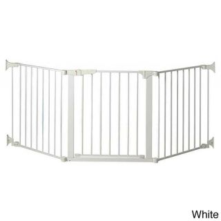 Kidco Auto Close Configuregate Child Gate (White/blackMaterials Metal/plasticDimensions 34.5 inches long x 5 inches wide x 33 inches highAssembly Required )