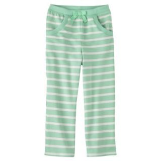 Genuine Kids from OshKosh Infant Toddler Girls Stripe Lounge Pant   Green 12 M