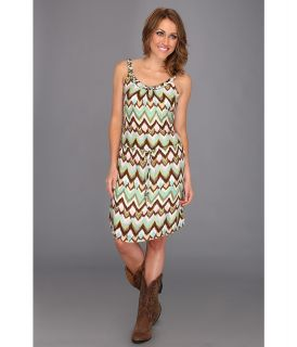 Stetson 8429 Ikat Print Sleeveless Dress Womens Dress (Green)
