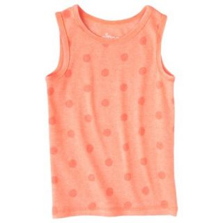 Circo Infant Toddler Girls Ribbed Polka Dot Tank Top   Moxie Peach 5T