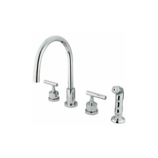 Elements of Design ES8721CML Louisville Double Handle Widespread Kitchen Faucet