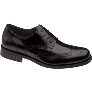 Johnston & Murphy Mens Atchison Wing Tip Black Shoes   20 6287
