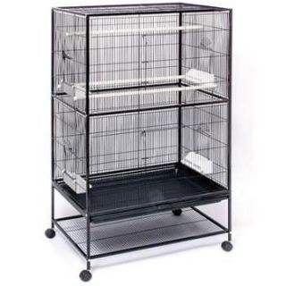 Large Black Flight Bird Cage