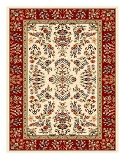 Lyndhurst Collection Ivory/ Red Rug (33 X 53)