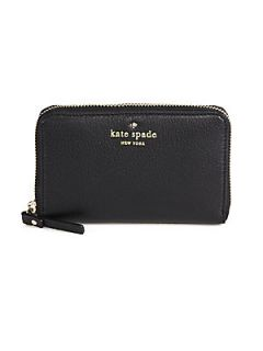 Kate Spade New York Cobble Hill Medium Lacey Zip Around Wallet   Black