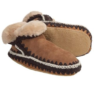 Woolrich Winter Haven Boot Slippers   Suede  Shearling Lining (For Women)   CHESTNUT (L )