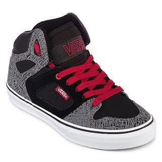 Vans Allred Boys Casual Shoes, Blk/chili Pepper, Boys