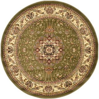 Lyndhurst Collection Sage/ Ivory Rug (8 Round)