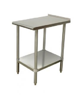 Advance Tabco Equipment Filler Table   15x24, Undershelf, 1.5 Turn Up In Read, Stainless Steel