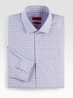 HUGO BOSS Easton Check Dress Shirt   Purple