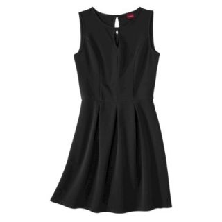 Merona Womens Textured Sleeveless Keyhole Neck Dress   Black   XS