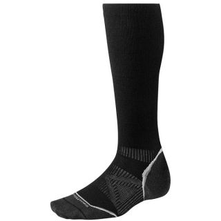 SmartWool 2013 PhD Graduated Compression Socks   Merino Wool  Ultralight  Over the Calf (For Men and Women)   BLACK (M )