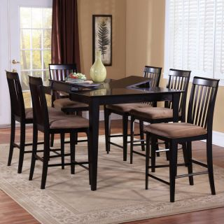 Atlantic Furniture Inc Montreal 7 Piece Butterfly Pub Table Set   ATF413