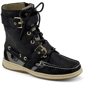 Sperry Top Sider Womens Huntley Black Boots   9309246