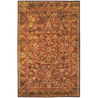 Safavieh Antiquities Majesty Wine/Gold Rug AT52B Rug Size 6 x 9