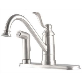 Price Pfister Portland One Handle Centerset Kitchen Faucet with Spray on Deck