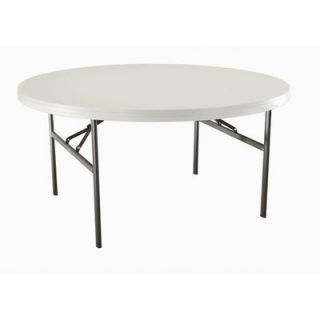Lifetime 60 Round Commercial Grade Table in Almond 2971 Quantity 1