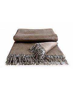 Brunello Cucinelli Cashmere Bicolor Blanket/Brown   Brown