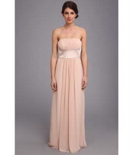Donna Morgan Strapless Chiffon W Satin Insert Dress Womens Dress (Pink)