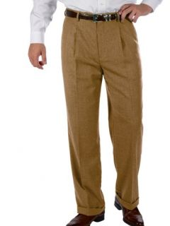 Paul Fredrick Mens Wool & Cashmere Pleated Pants