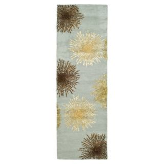 Safavieh Soho Light Blue/Multi Rug SOH712C Rug Size Runner 26 x 6