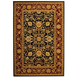 Lyndhurst Collection Majestic Black/ Red Rug (33 X 53)