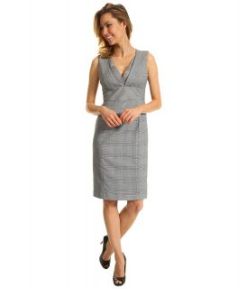 Anne Klein Glen Plaid Sheath Dress Womens Dress (Black)