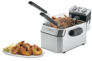 Waring Countertop Single Deep Fryer w/ 10 lb Capacity & 1 Basket, Timer, 120V