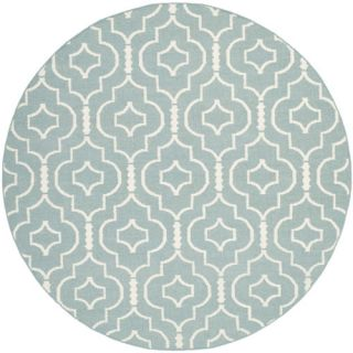 Safavieh Dhurries Light Blue/Ivory Rug DHU637C Rug Size Round 6