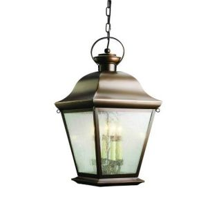 Kichler 9804OZ Outdoor Light, Classic (Formal Traditional) Pendant 4 Light Fixture Olde Bronze