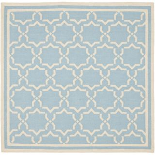 Safavieh Dhurries Light Blue/Ivory Rug DHU545B Rug Size Square 6