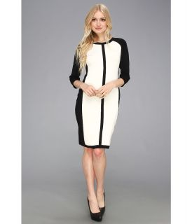 Vince Camuto Colorblock Sweater Dress Womens Dress (Bone)