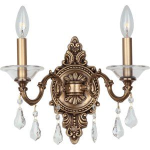 Crystorama Lighting CRY 2222 RB CL MWP Delancey Delancey 2 Light Roman Bronze Sc