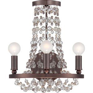 Crystorama Lighting CRY 1542 CB MWP Channing Channing 3 Light Bronze Sconce