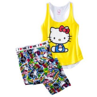 Hello Kitty Juniors PJ Set   Yellow XL(15 17)