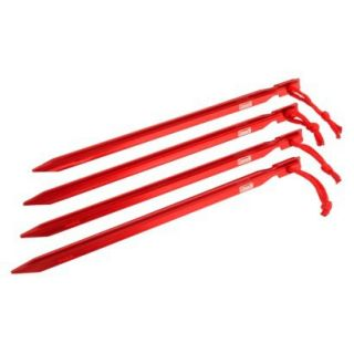 Coleman 9 In. Heavy Duty Aluminum Tent Stakes  Red