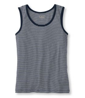 Double L Rib Knit Tee, Tank Stripe