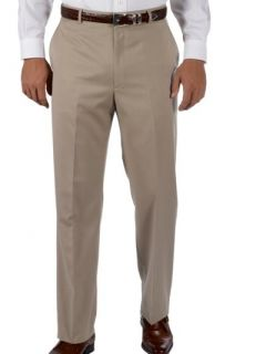 Paul Fredrick Mens 100% Wool Gabardine Flat Front Trim Fit Pants