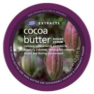 Boots Extracts Cocoa Butter Sugar Scrub   6.7 oz